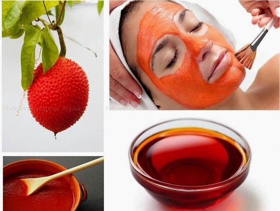 cách làm dầu gấc dưỡng da mặt