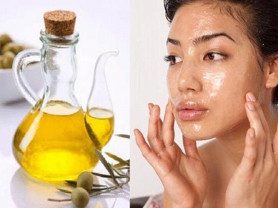 dầu oliu làm trắng da mặt