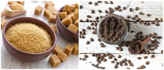 Bạn có thể tẩy da chết bằng cách chà bã cà phê lên các vùng da của cơ thể