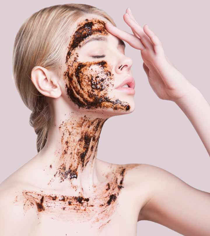 Da mặt cũng có thể sử dụng bã cà phê