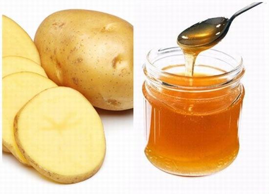 làm đẹp bằng khoai tây và mật ong