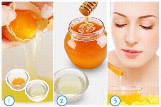 cách trị mụn bằng mật ong và trứng gà