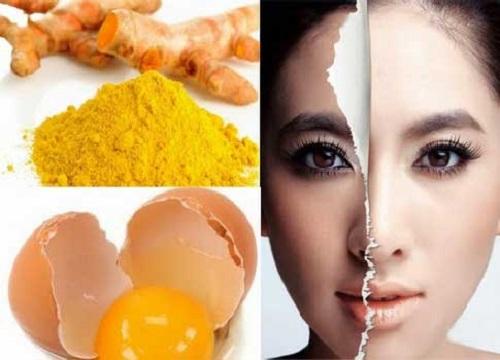 Lòng trắng trứng kết hợp với tinh bột nghệ đem lại cho làn da nét mịn màng trắng sáng.