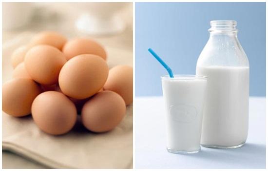 Lòng trắng trứng kết hợp với sữa tươi giúp chị em sở hữu làn da trắng hồng