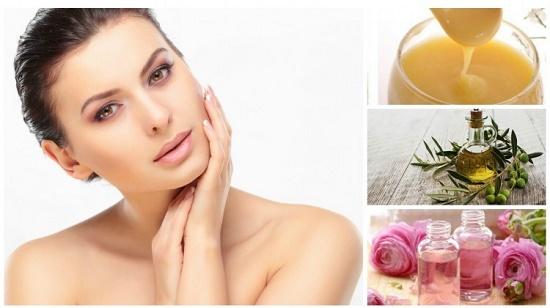 Sự kết hợp giữa sữa ong chúa, dầu thực vật và nước hoa hồng giúp se khít lỗ chân lông và giảm thâm hiệu quả